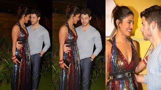 Newly Wed Couple Priyanka Chopra & Nick Jonas Cant Stop Loving eachother At Party in Mumbai