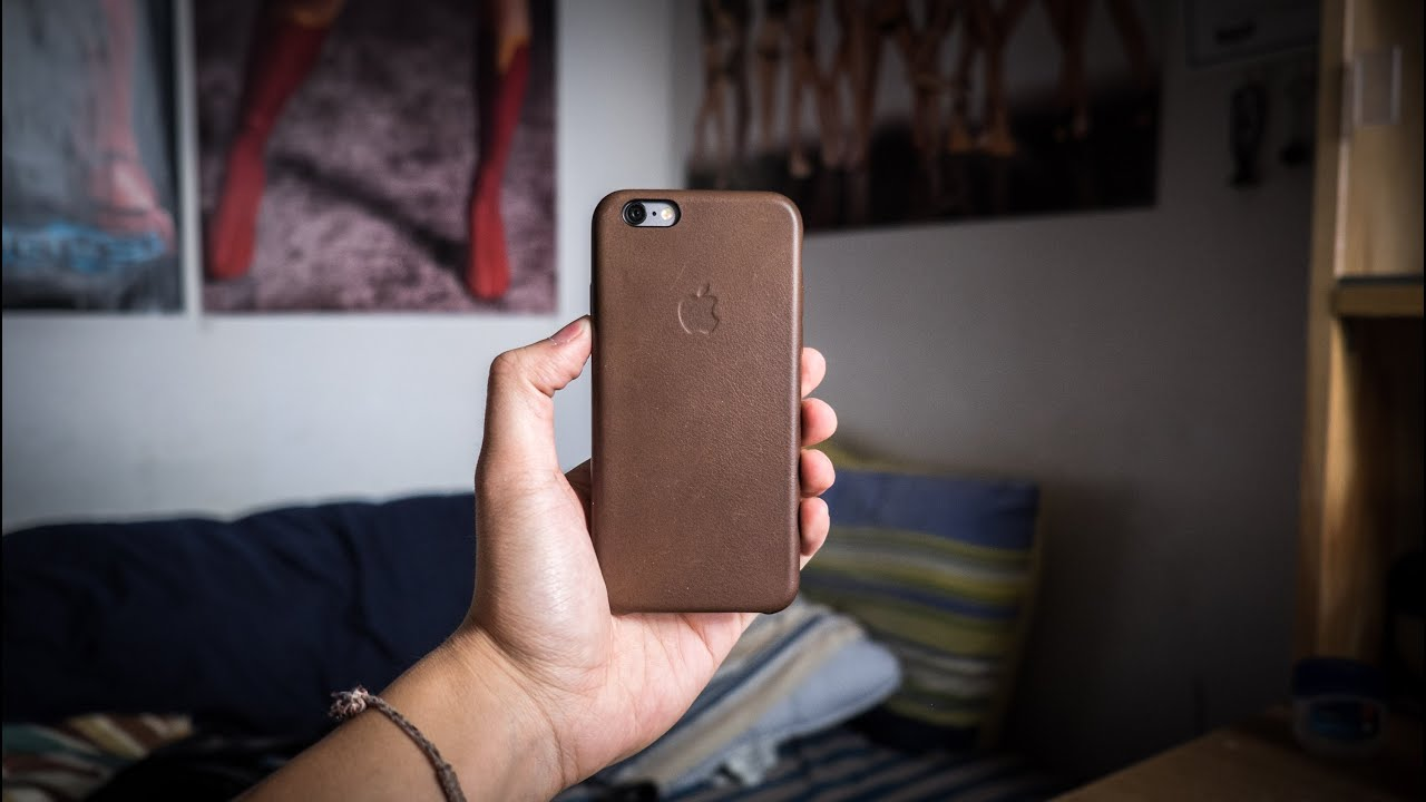 iphone 6 brown leather case