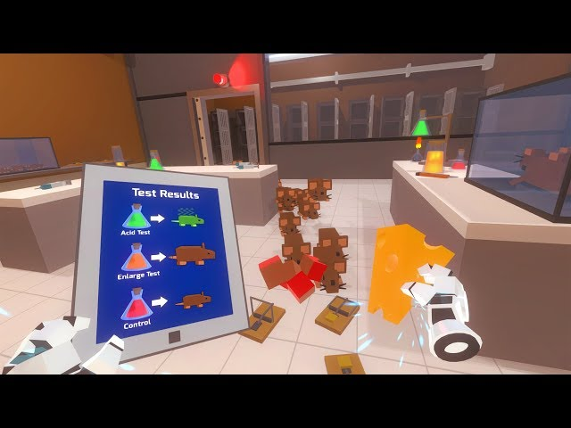 Just In Time Incorporated PC VR gameplay (Lenovo Explorer) - Exterminating a rat infestation