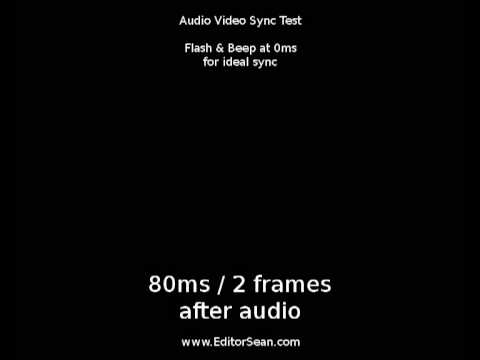 Audio Video Sync (MP4), Alignment & Latency Test