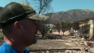 Residents trying to rebuild after wildfire destroys homes