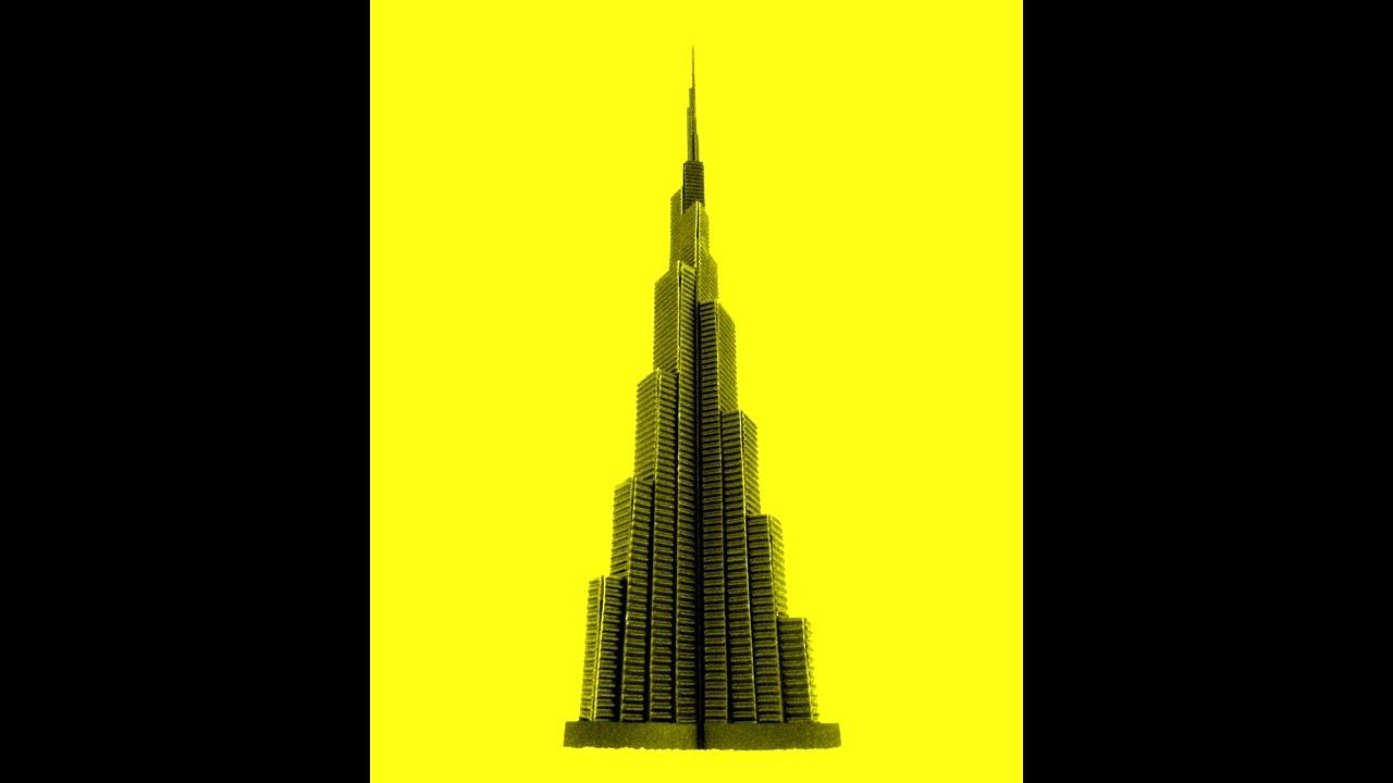 how to make burj khalifa paper model