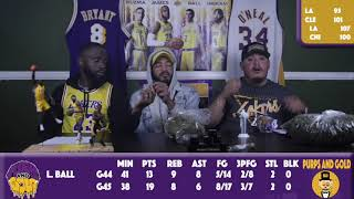 Spaceman Young Taps in With Purps & Gold   Lakers vs Cleveland Lakers vs Bulls