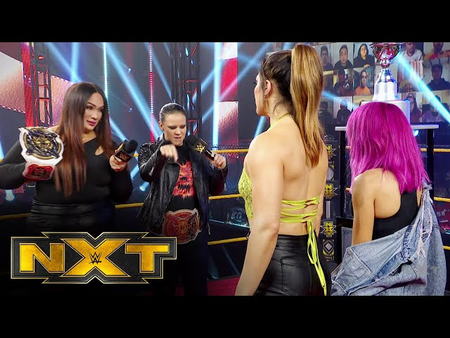 Jax & Baszler, González & Kai look forward to next week's clash: WWE NXT, Feb. 24, 2021