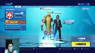 Fortnite ITA game with subscribers and gift skin