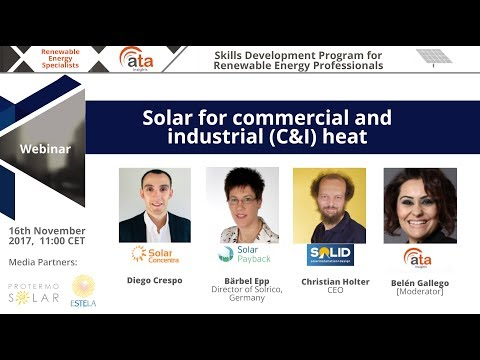 Webinar: Solar for commercial and industrial (C&I) heat