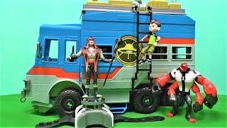 Ben 10 мультик на русском - Открываем Бен тен игрушки - Машина трейлер развалюх дедушки Макса