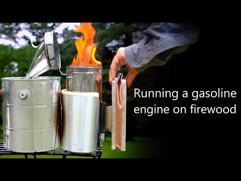 Running a Gasoline Engine on Firewood | Woodgas Biofuel