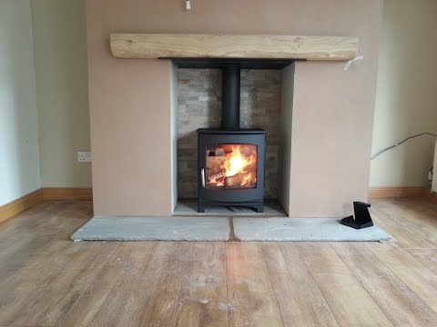 How i restored this wood burning stove part 1 step by doovi - Remplacer insert par poele a granule ...