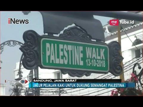 Menteri Luar Negeri RI Dan Palestina Resmikan 'Palestine Walk' Di Bandung - INews Pagi 14/10