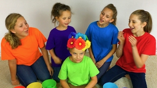 Learn English Colors! Rainbow Surprise Egg Flowers with Sign Post Kids!