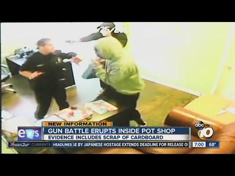 Surveillance Video Of Gun Battle In Pot Shop Revealed In Court