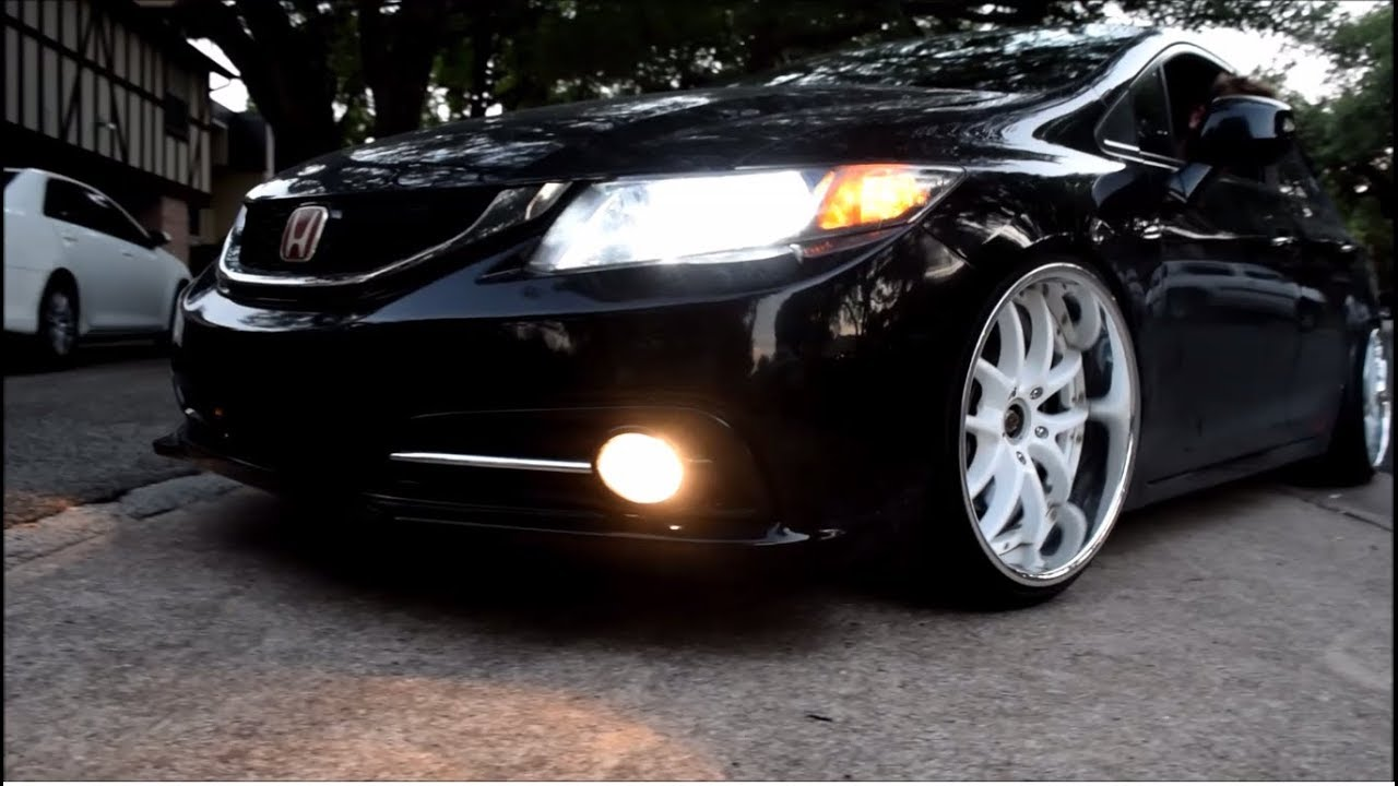 Putting on Work Wheels on Tyler's Civic Si!