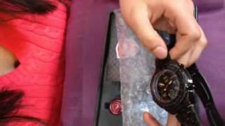 shark digital lcd analog stainless steel band men s black sport quartz wrist watch sh116