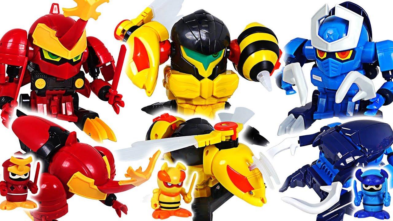 Godzilla appeared! Bugs Ninja wasp, stag beetle, scarab insect transform mecha! Go! - DuDuPopTOY