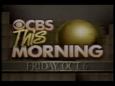 CBS This Morning- October 6, 1989