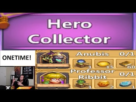 JT's Main Chasing Hero Collector Rewards ONETIME Rolling Heroes Castle Clash