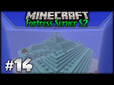 Minecraft: Fortress Server S2 - Episode 14 - Glass Wall Complete!
