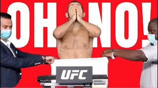 KHABIB MISSED WEIGHT!!!  UFC 254 Weigh In Drama!!!!  Watch This FULL VIDEO! Crazy!!!!!