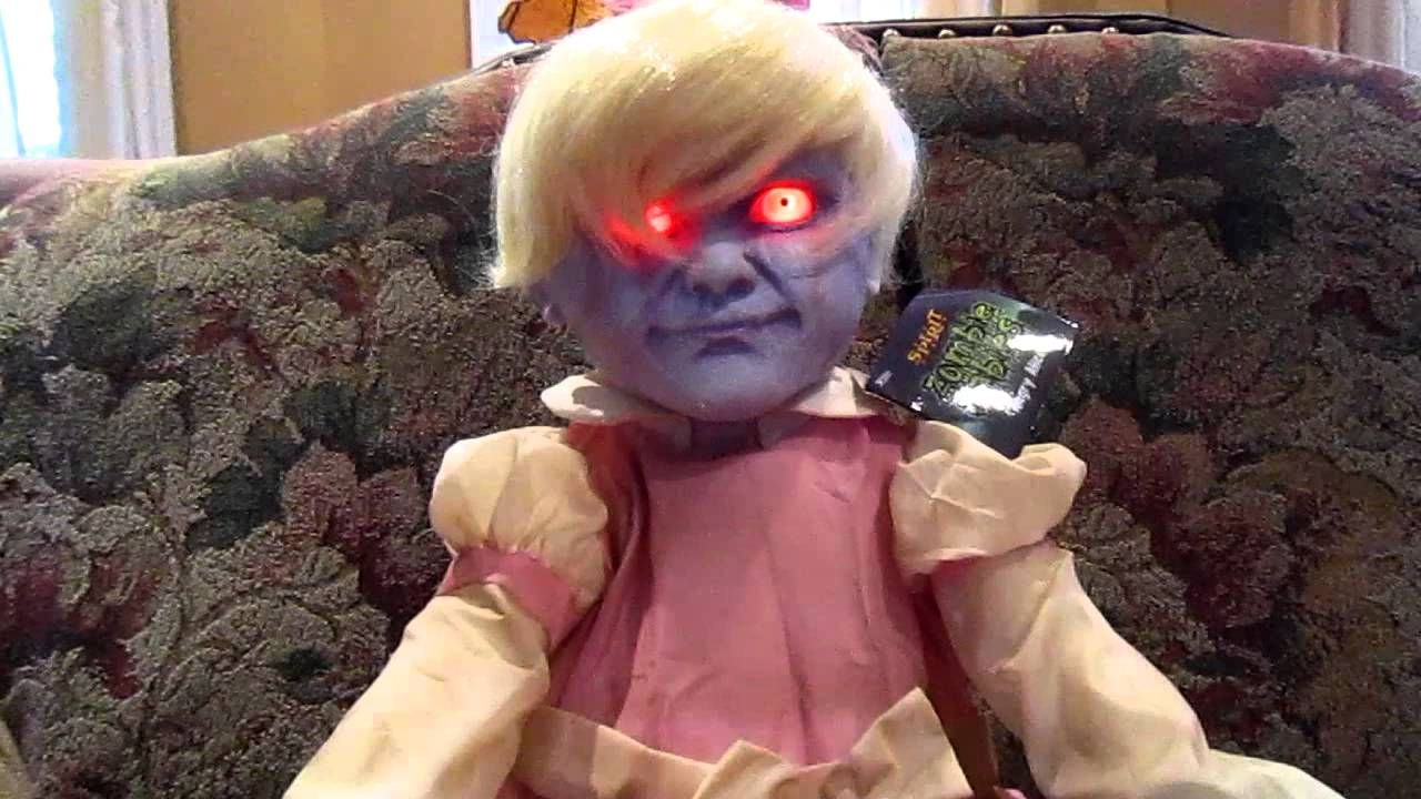 angry alice zombie baby from spirit halloween youtube