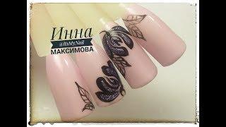 🌸 Дизайн для НАЧИНАЮЩИХ 🌸 FIORE 🌸 Дизайн ногтей гель лаком 🌸