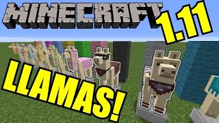 Everything You Need To Know About Llamas! | Minecraft 1.11 Gameplay Tutorial