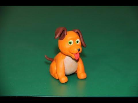 Видео как лепить собачку из пластилина