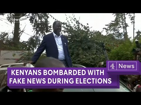 Kenyans bombarded with fake news in presidential election