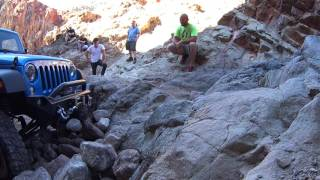 Calico - Odessa Canyon Waterfall - Blue Jeep tries to power up