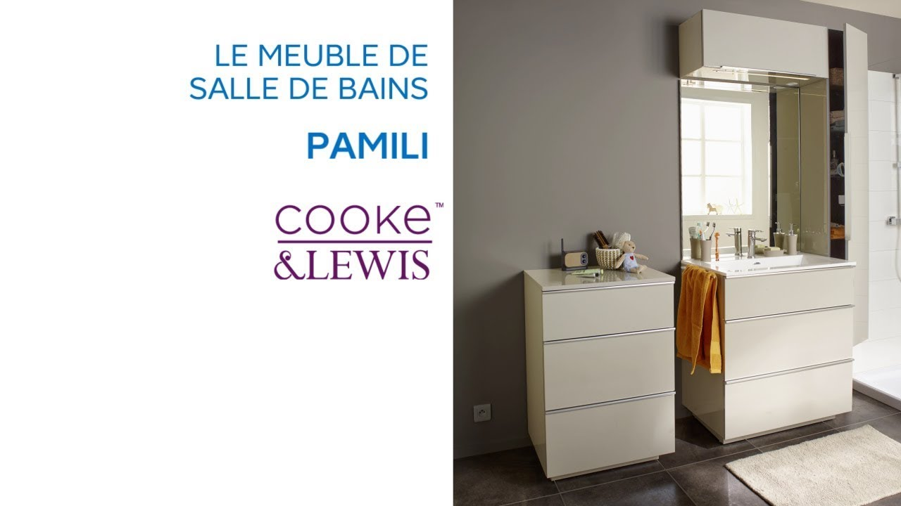 meuble de salle de bains pamili cooke lewis castorama. Black Bedroom Furniture Sets. Home Design Ideas