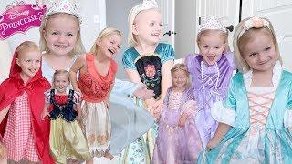 Trying On Disney Princess Dresses | Toddler Princess Dress Up Fashion Show