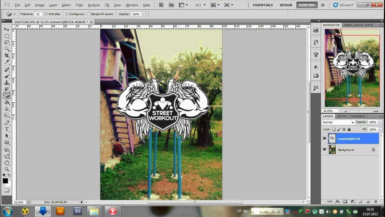как вставить логотип на фото в фотошопе