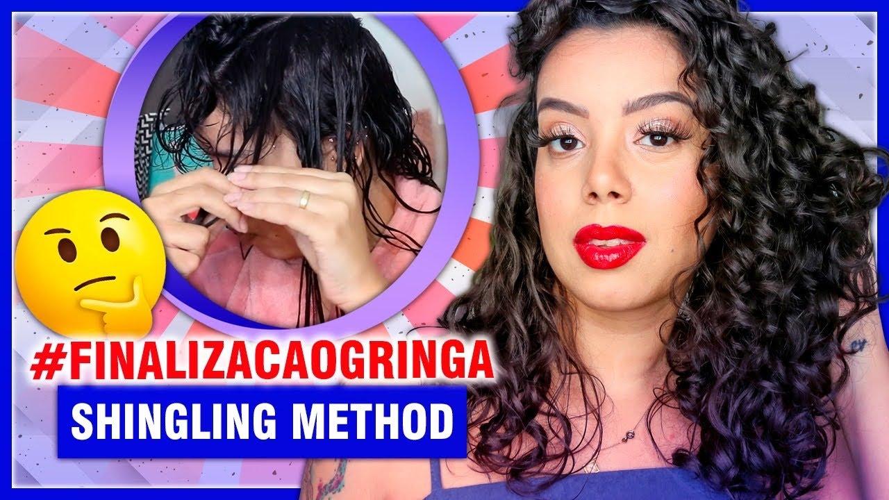 SHINGLING METHOD - FINALIZAÇÃO DE CABELOS CACHEADOS  PARA MUITA DEFINIÇÃO - Tamires Maia