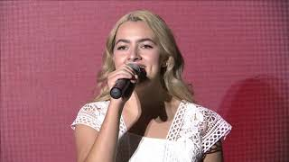 """Daphne Charrois sings """"Oh Canada"""""""
