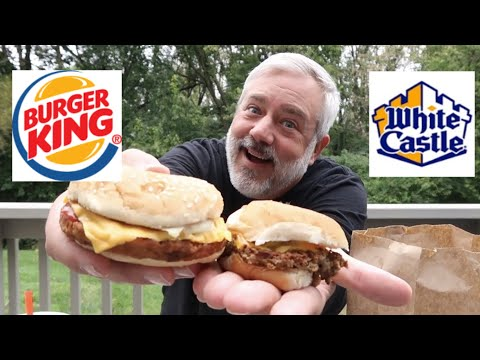 BURGER KING VEGGIE BURGER VS WHITE CASTLE IMPOSSIBLE SLIDER!