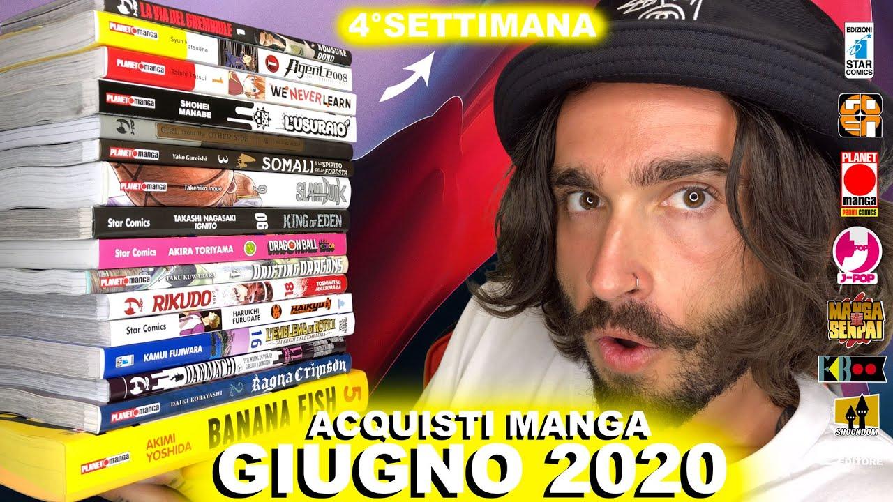 ACQUISTI MANGA GIUGNO 2020 - 4° SETTIMANA