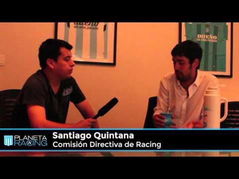 Planeta Racing TV:  Entrevista a Santiago Quintana.