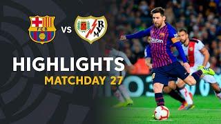 Highlights FC Barcelona vs Rayo Vallecano (3-1)
