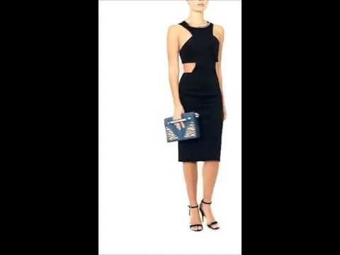 Selfish By Forever Unique AW13 Collection - Dash - Black Cut Out Bodycon Dress