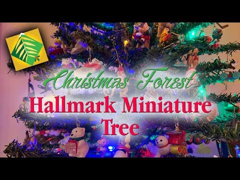 Hallmark Miniature Tree | Over 200 Keepsake Ornaments | Christmas Forest | Pepper Tree Villa