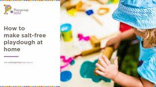 How to make salt-free playdough at home