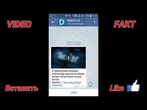 Telegramda Istagan Narsani Qidirib Topish VIDEO FAKT