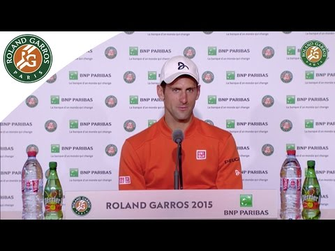 Press conference Novak Djokovic 2015 French Open / Final