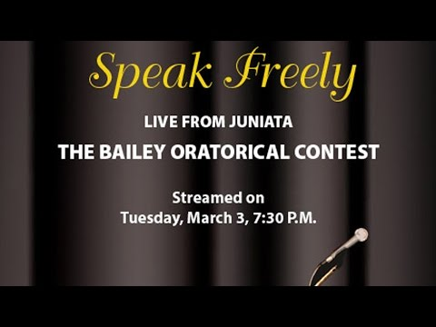 2015 Bailey Oratorical | Live Stream | Juniata College
