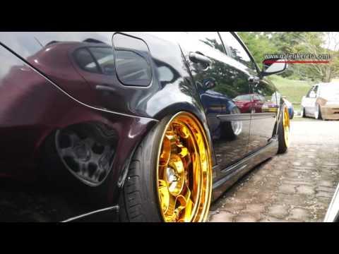 Black Lowered Persona with Gold Chrome rims | Galeri Kereta