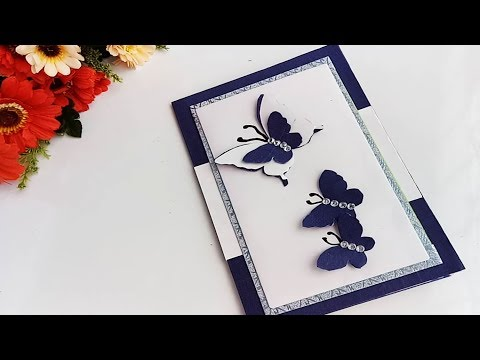 Handmade Butterfly Birthday card//complete tutorial