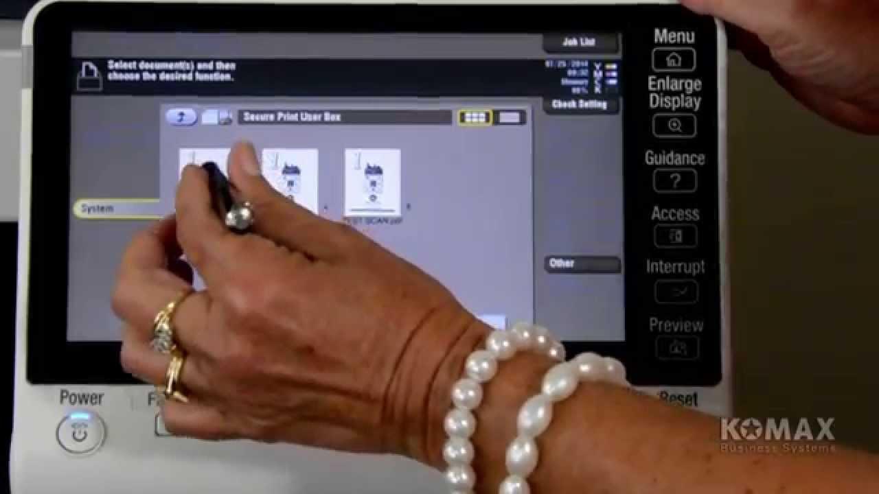 KOMAX Business Systems - Setting Up bizhub Secure Print Feature