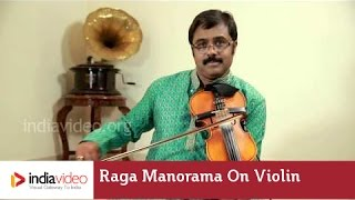 Raga Manorama on Violin instrumental by Jayadevan | India Video
