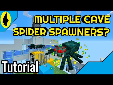 HOW TO CONNECT MULTIPLE CAVE SPIDER SPAWNERS   Minecraft 1.14