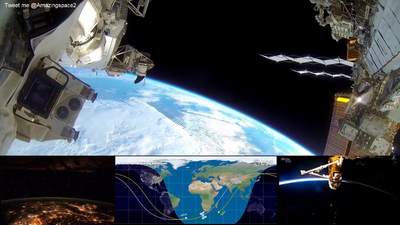 NASA Live - Earth From Space (HD Cams) ISS Live Stream # ...